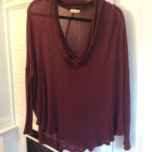 Silence & Noise Cowl Neck Sweater